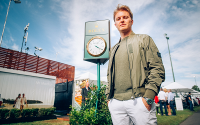 Nico Rosberg keeps time with Rolex