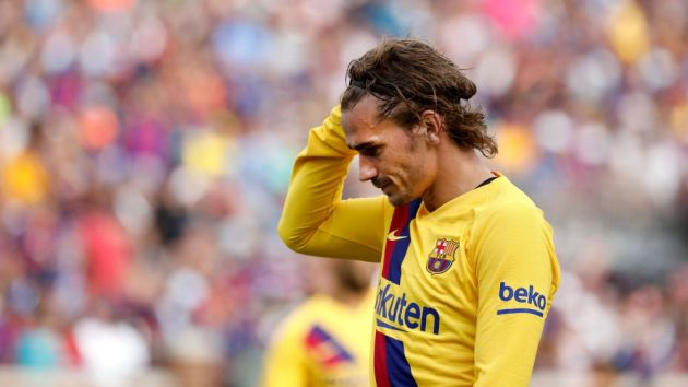 Griezmann reacts after Barca's disappointing loss to Athletic