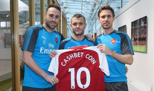 Arsenal cash in on cryptocurrency with CashBet