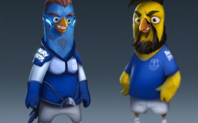 Everton stars appear in Angry Birds for unique activation