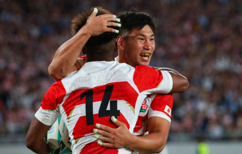 Japan's win over Ireland pulls in 28.9% peak audience for NHK