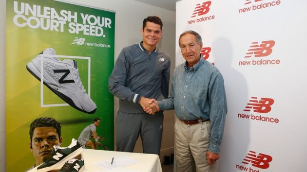 Milos Raonic to wear New Balance for rest of career
