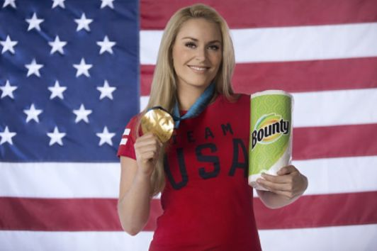 Lindsey Vonn cleans up with Bounty