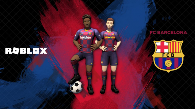 timeless design eb2b3 06b8a Barcelona show off new home kit in Roblox gaming deal ...