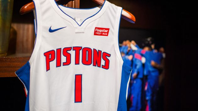 another chance 15d4b e67a6 Detroit Pistons net jersey sponsorship deal with Flagstar ...